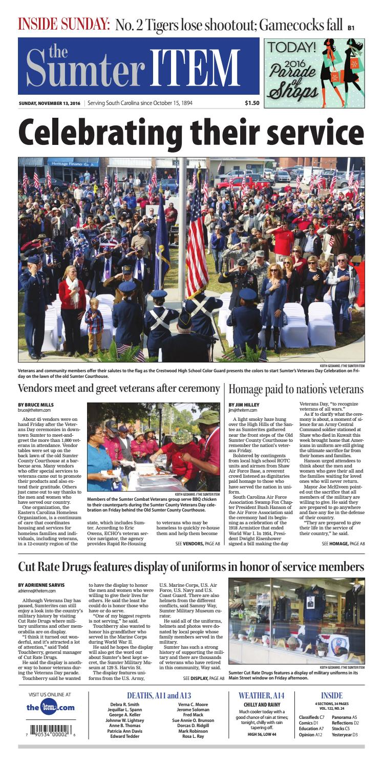 November 13, 2016 by The Sumter Item - issuu