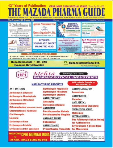 The Mazada Pharma Guide 16th to 30th November 2016 by The