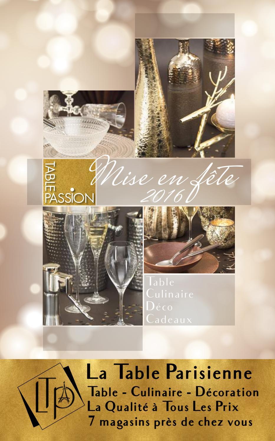 Catalogue Table Passion La Table Parisienne 2016 By Bastide