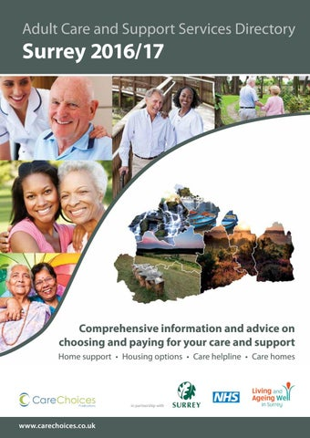 Surrey 2016 17 Adult Care And Support Services Directory