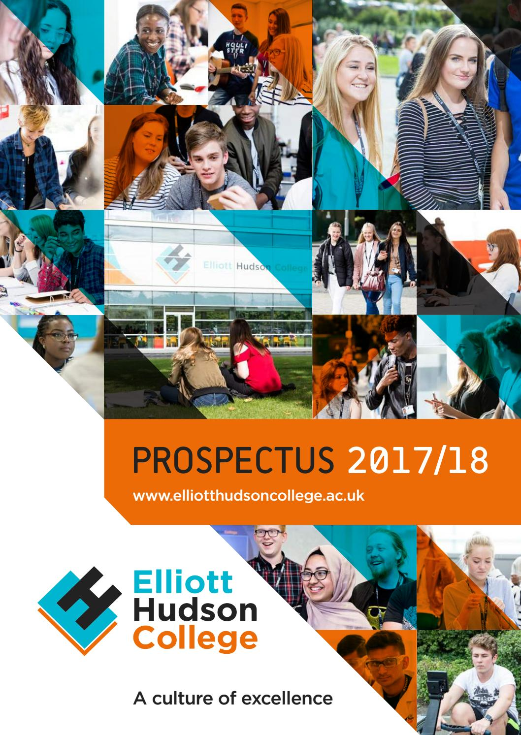 Ehc Prospectus 2017 2018 By Elliott Hudson College Issuu