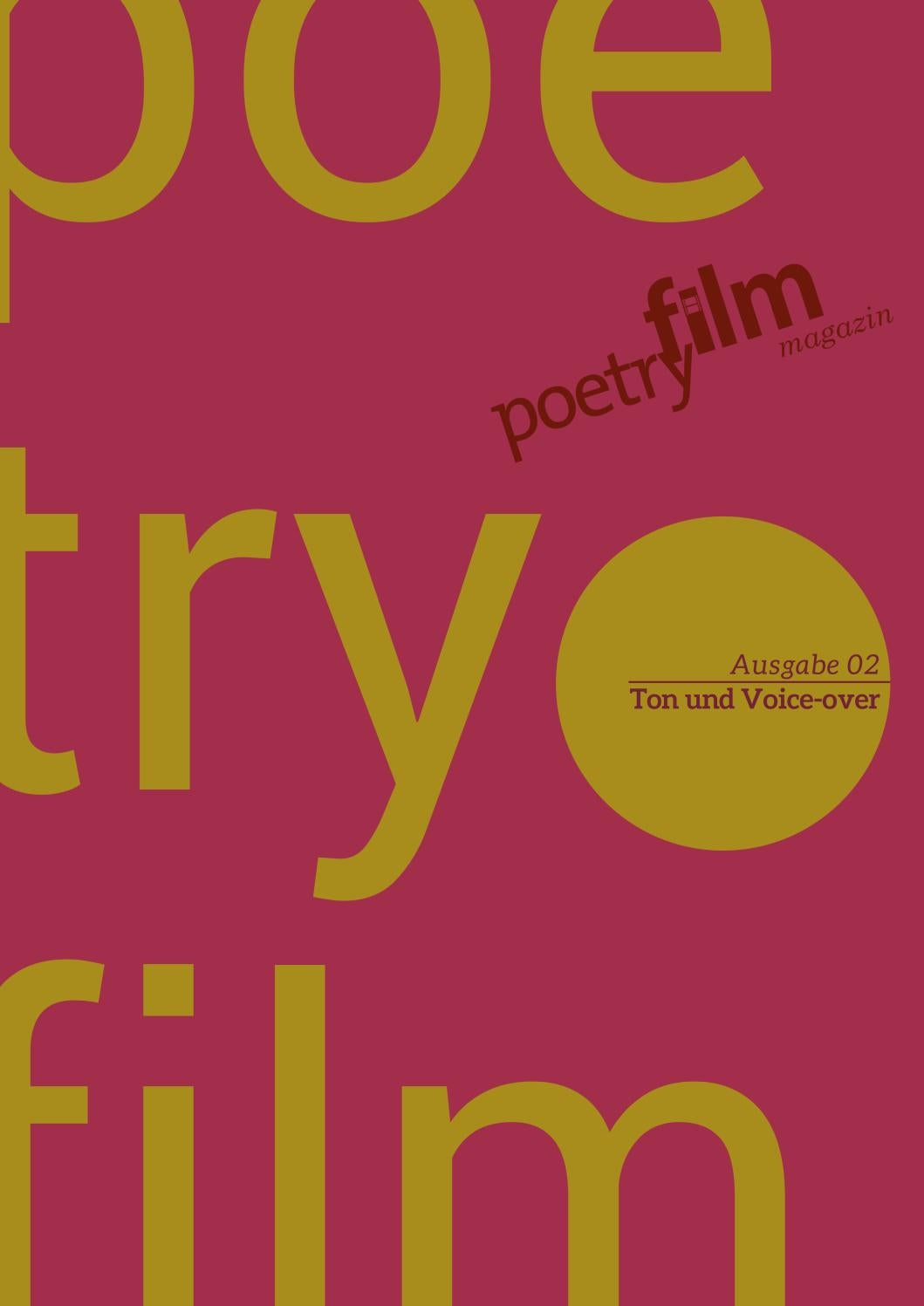 Poetryfilm Magazin ::: Ausgabe 02 by Poetryfilmkanal - issuu