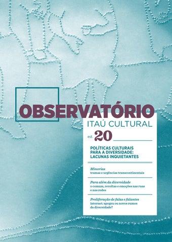 3be6bcc9d58 Observatório 20 - Políticas Culturais para a Diversidade  Lacunas ...