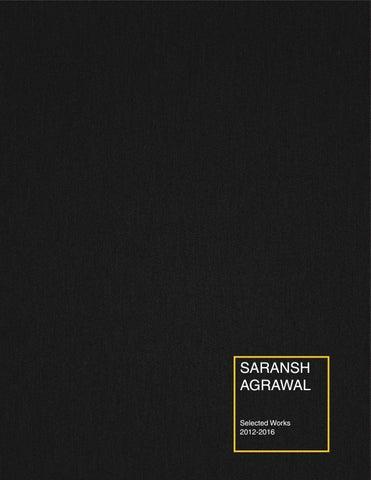 architecture portfolio with resume saransh agrawal iit roorkee