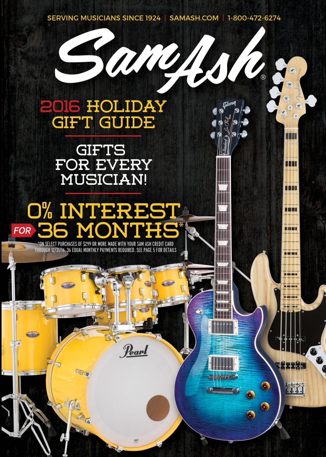 Holiday 2016 Sam Ash Gearguide By Music Corp Issuu Gilson Bros Wiring Diagram