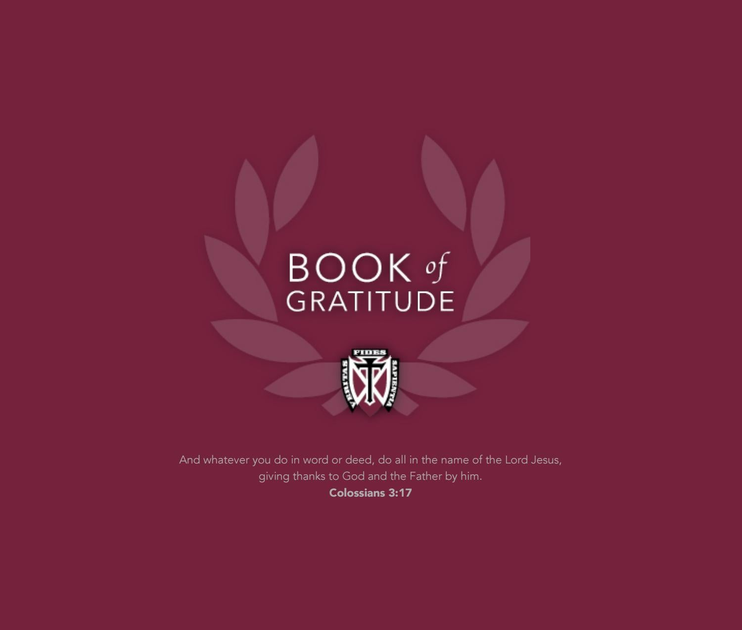 Holz Waidelich 2016 book of gratitude by dowling catholic high issuu