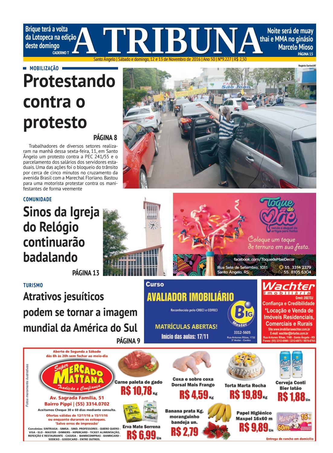 Jornal a tribuna 12 e 13 de novembro de 2016 by Jornal A Tribuna - Santo  Ângelo - issuu b524f2e17d3cc