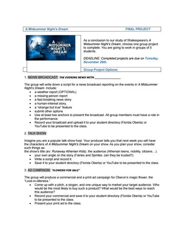 A midsummer night´s dream project guide by ablazquez - issuu