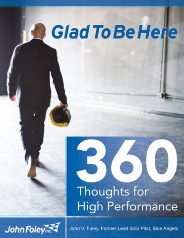 Glad To Be Here 360 Thoughts for High Performance by Ben