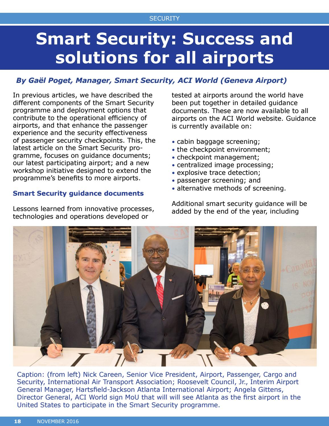 ACI World Report - November 2016 by Airports Council