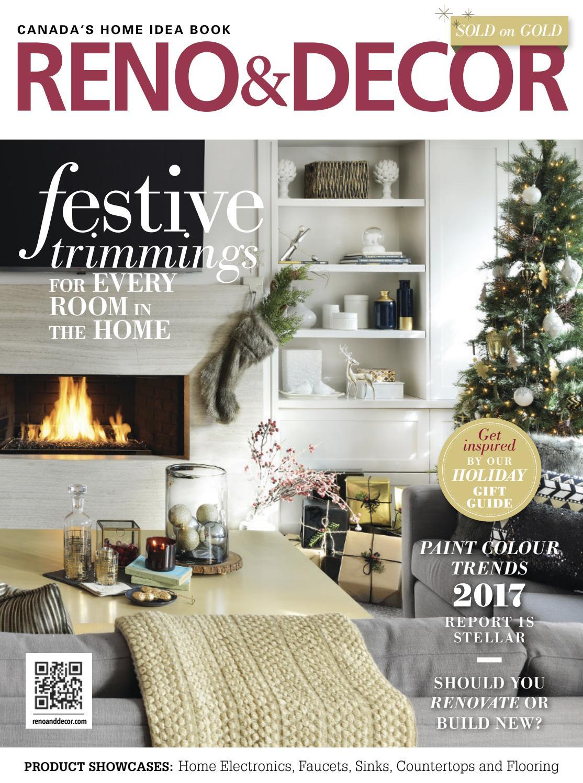 Home Decorating Magazines Reno & Decor Magazine  Decjan 201617Homes Publishing Group