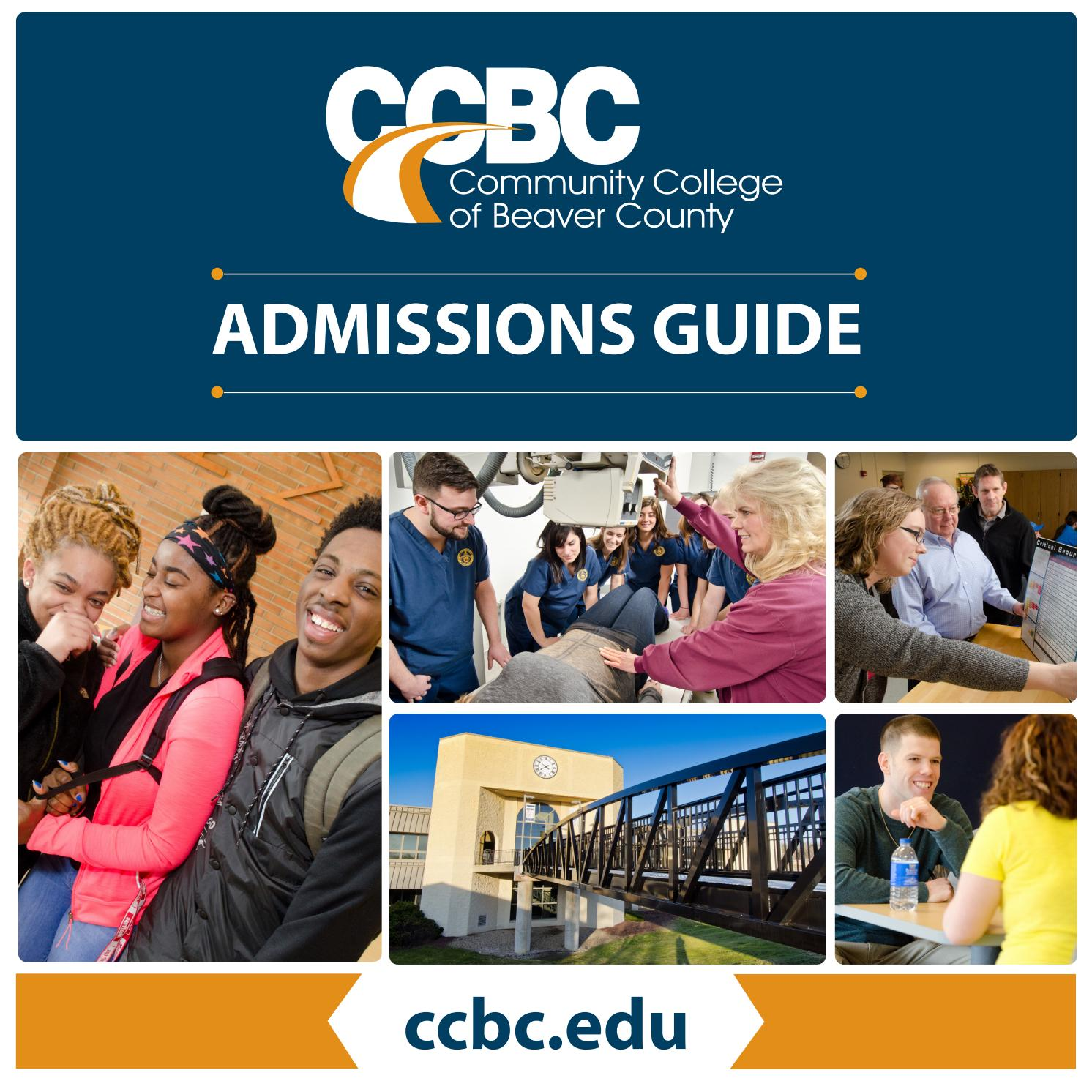 ccbc admissions guide by community college of beaver county issuu