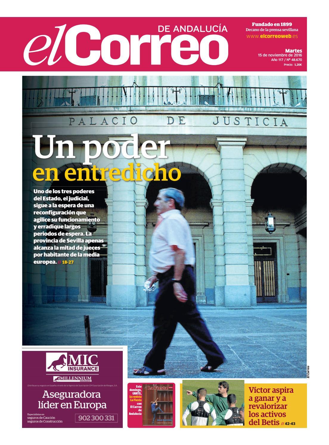 15 11 2016 El Correo de Andalucía by EL CORREO DE ANDALUCÍA S.L. - issuu 971e252871da0