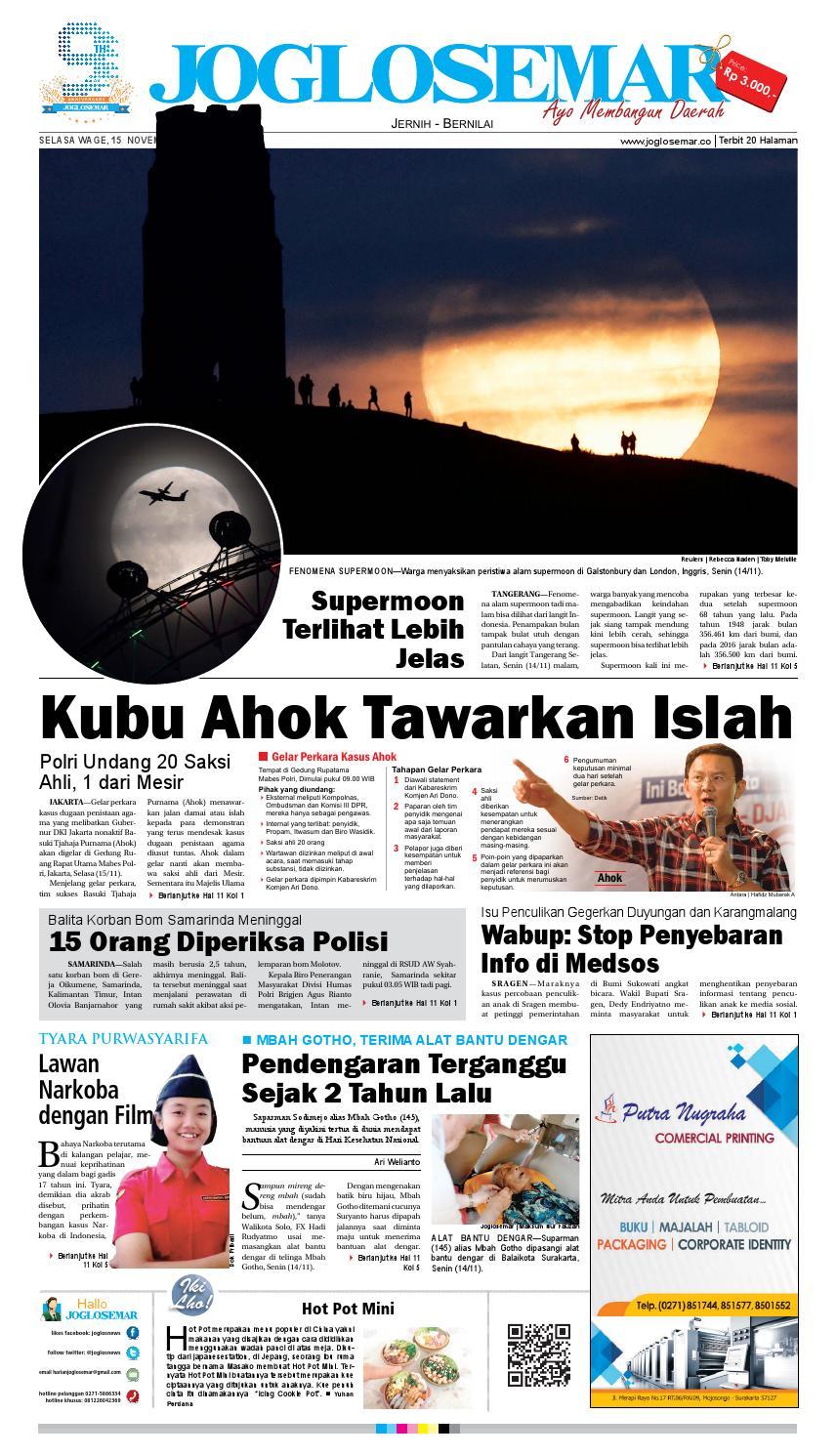 E Paper 15 November 2016 By PT Joglosemar Prima Media Issuu