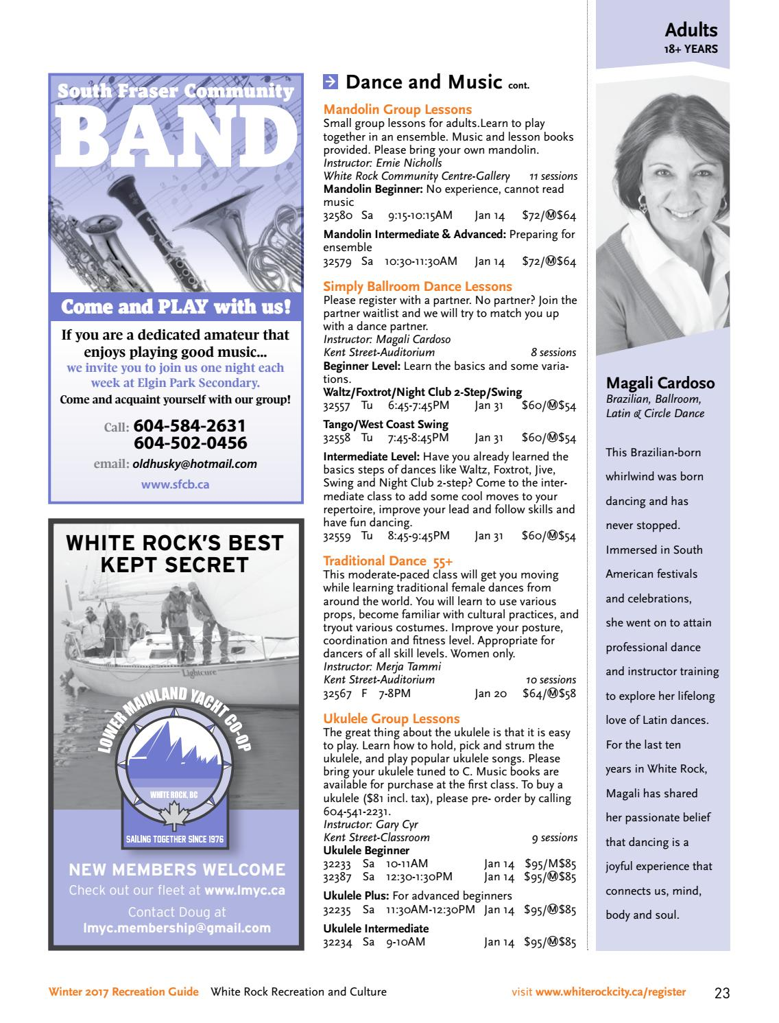 Winter 2017 White Rock Recreation Guide by City of White