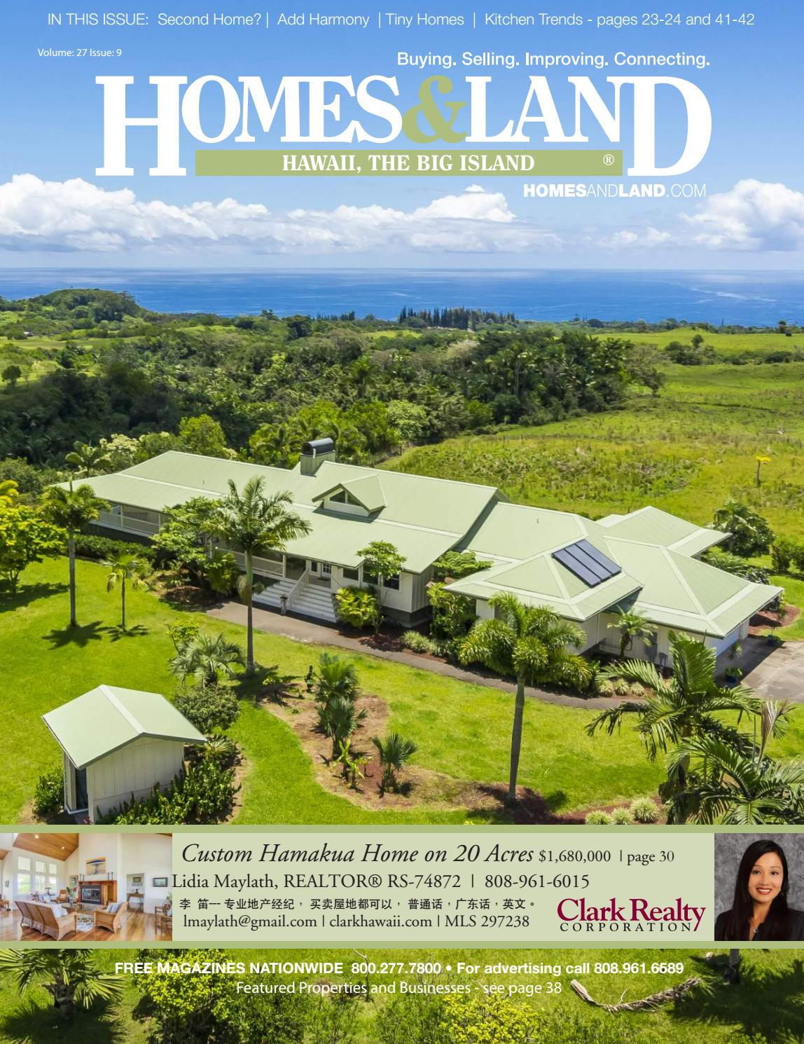 Vol  27, Issue 9 Homes & Land Hawaii, the Big Island by