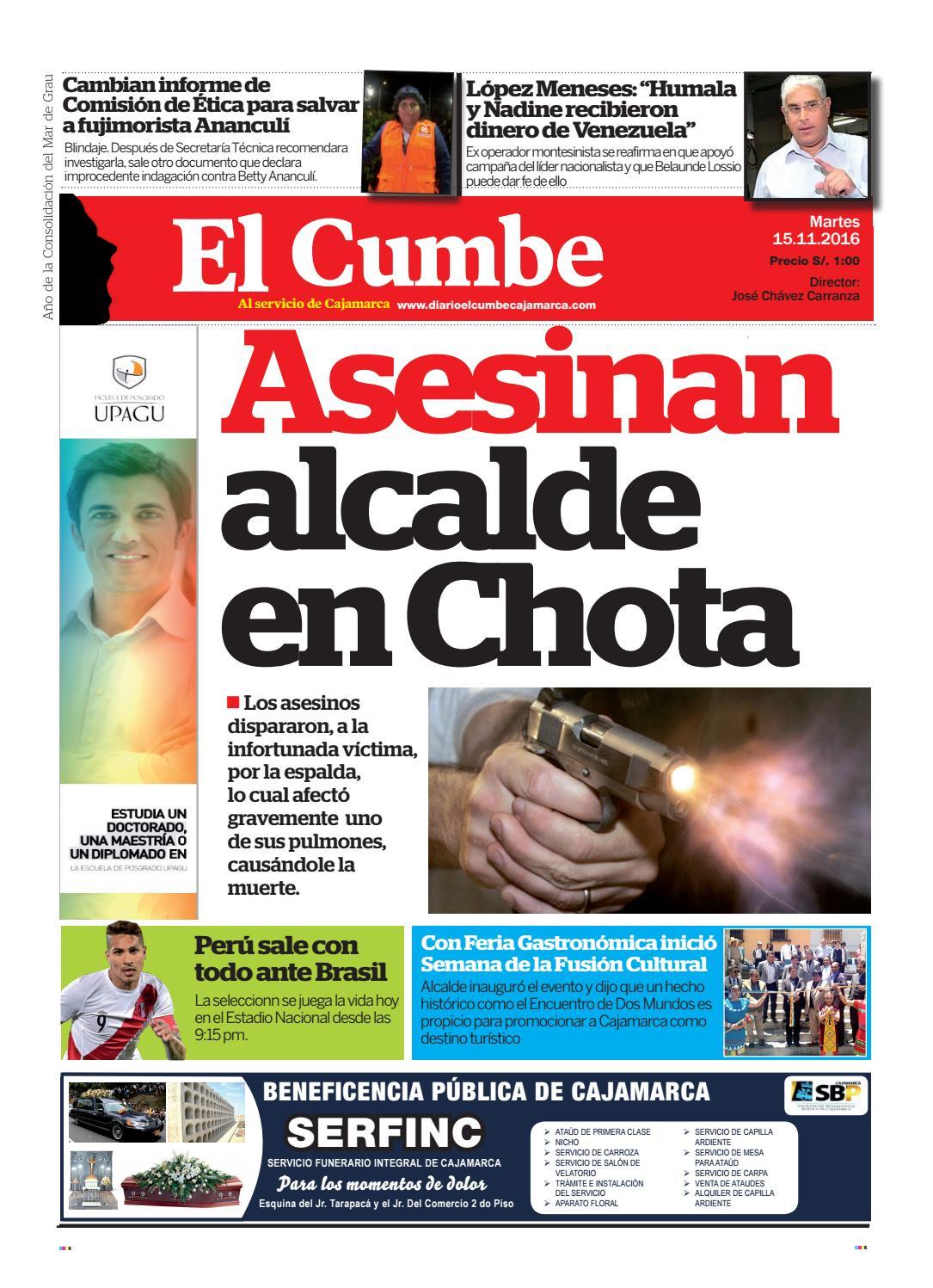 Diario 15 de noviembre by Diario El Cumbe - issuu