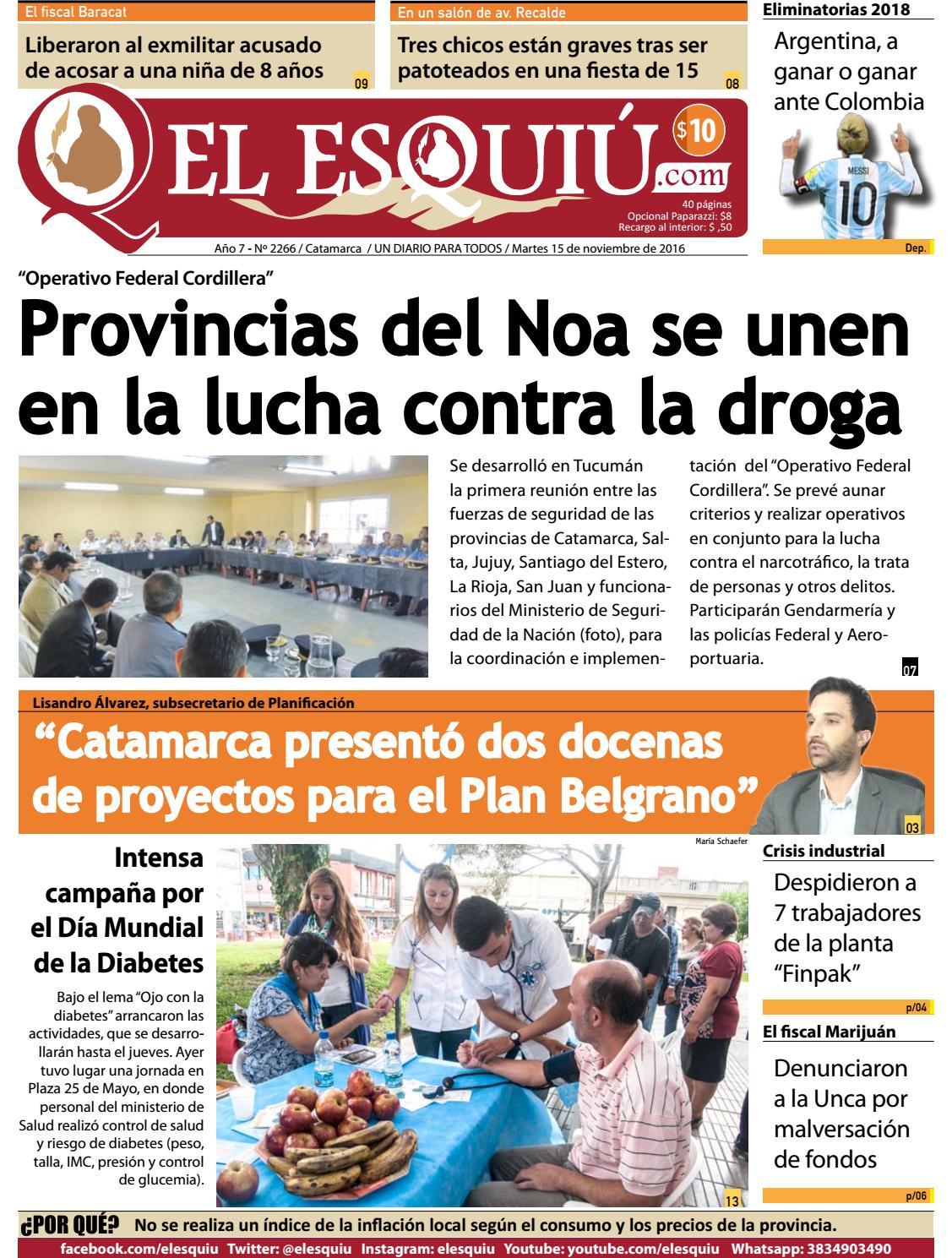 El Esquiu Com Martes 15 De Noviembre De 2016 By Editorial El  # Muebles Yoma Antofagasta