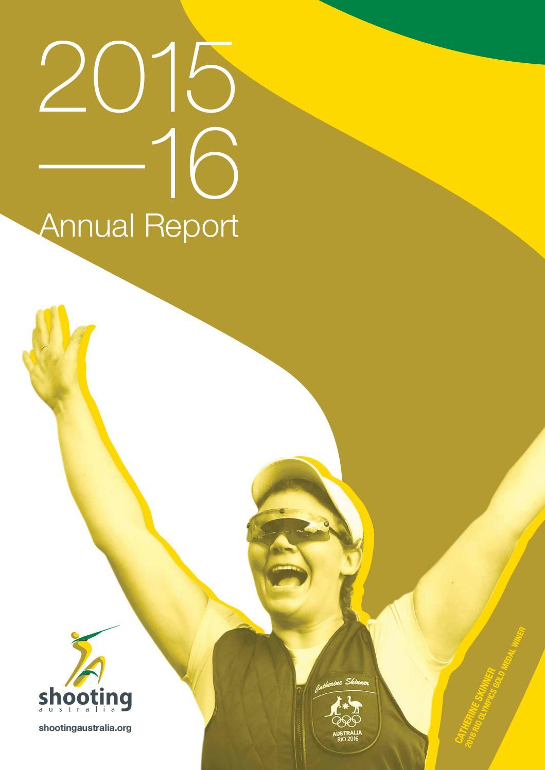 Aisl Shooting shooting australia annual report 2015 - 16shooting