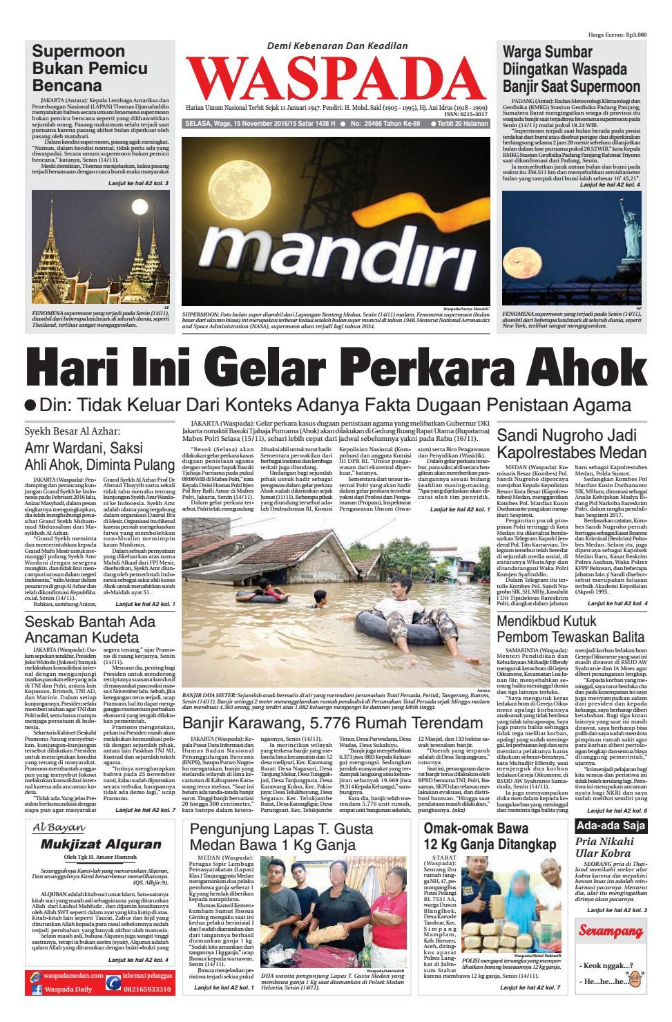 Waspada Selasa 15 November 2016 By Harian Waspada Issuu