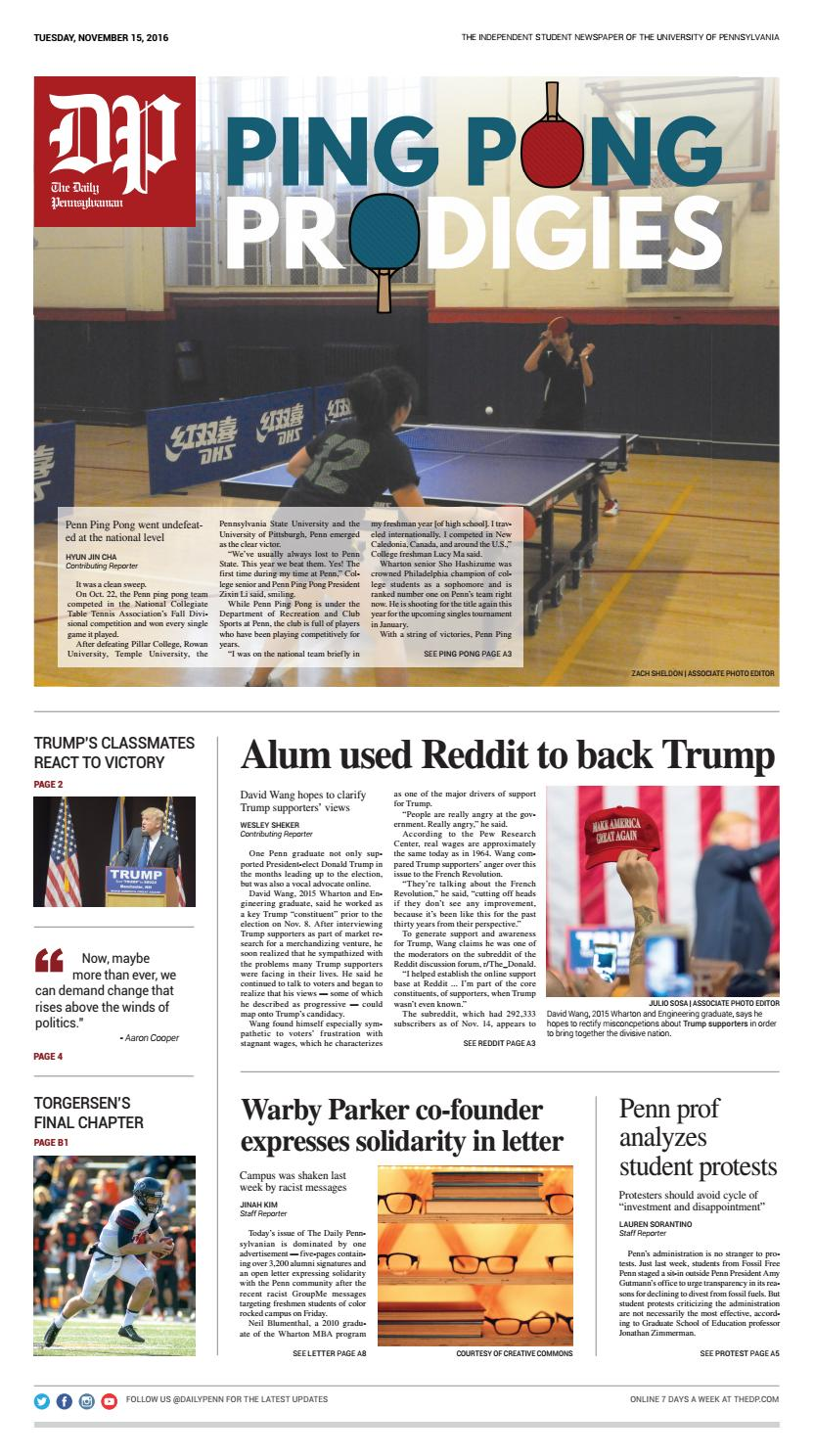 November 15, 2016 by The Daily Pennsylvanian - issuu