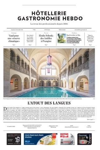 HG-Hebdo 32/2016 by Hotellerie_Gastronomie_Verlag - issuu