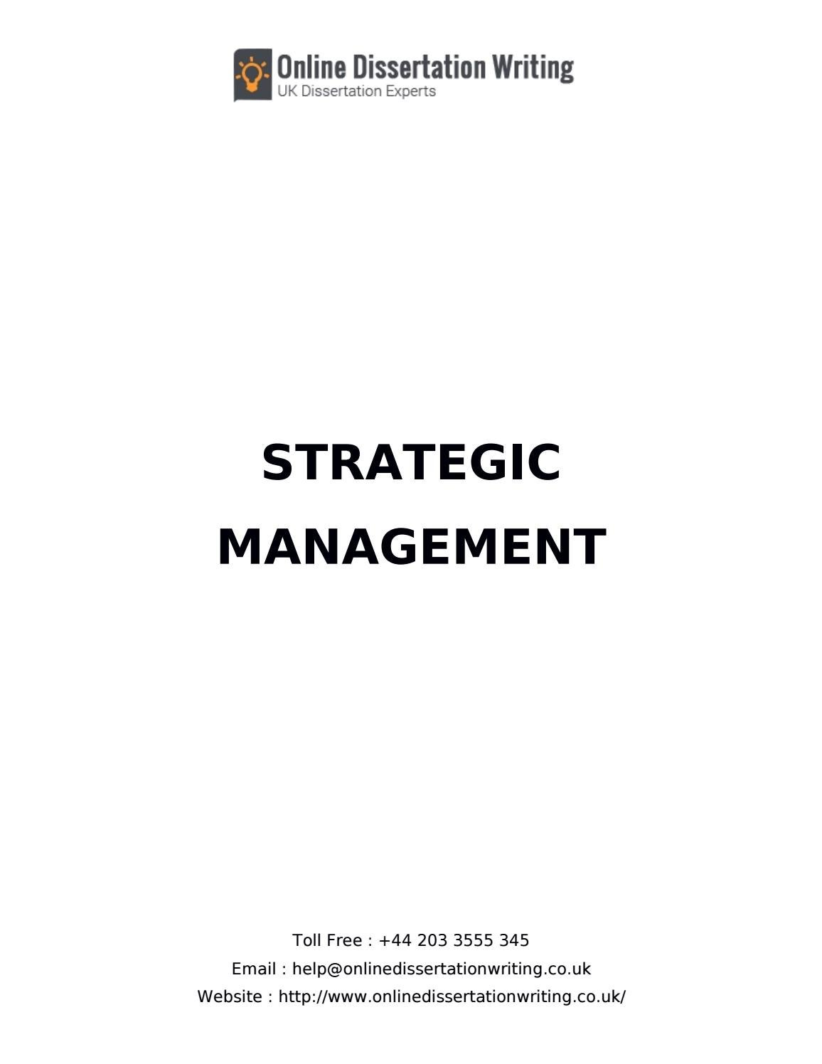 Dissertation strategic management