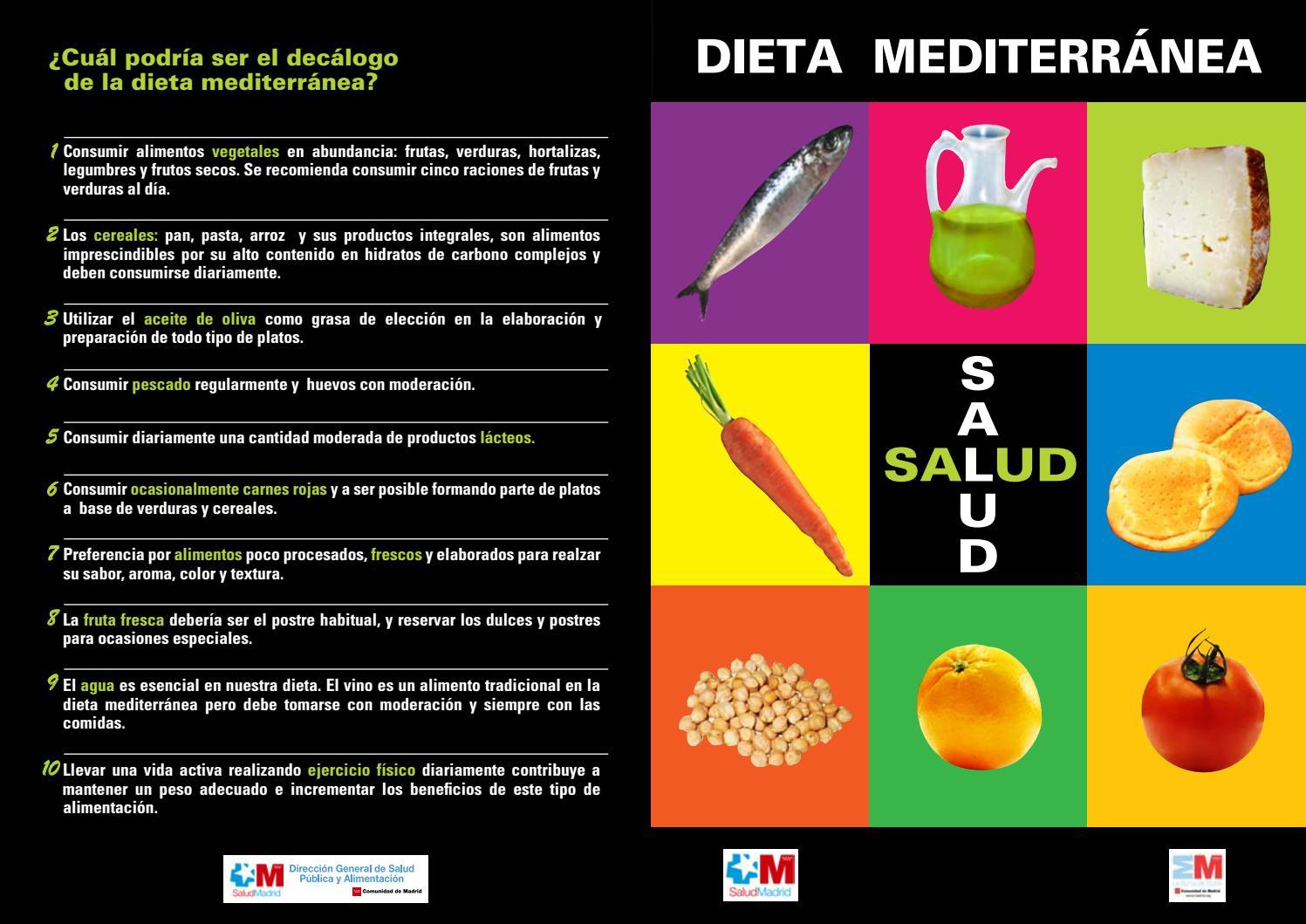 como llevar una dieta mediterranea