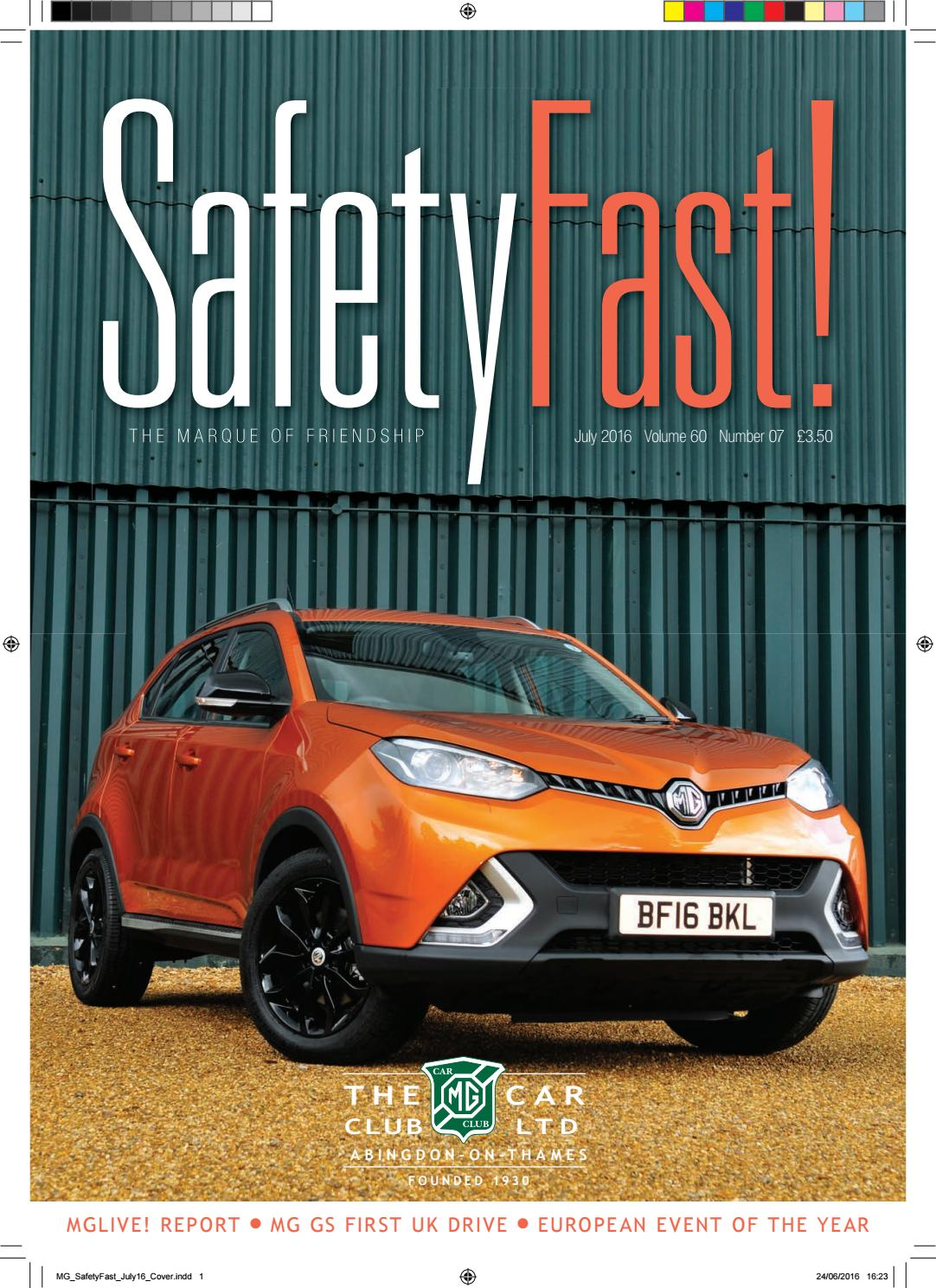 428941c6f85 Safety Fast! July 2016 by MG Car Club - issuu