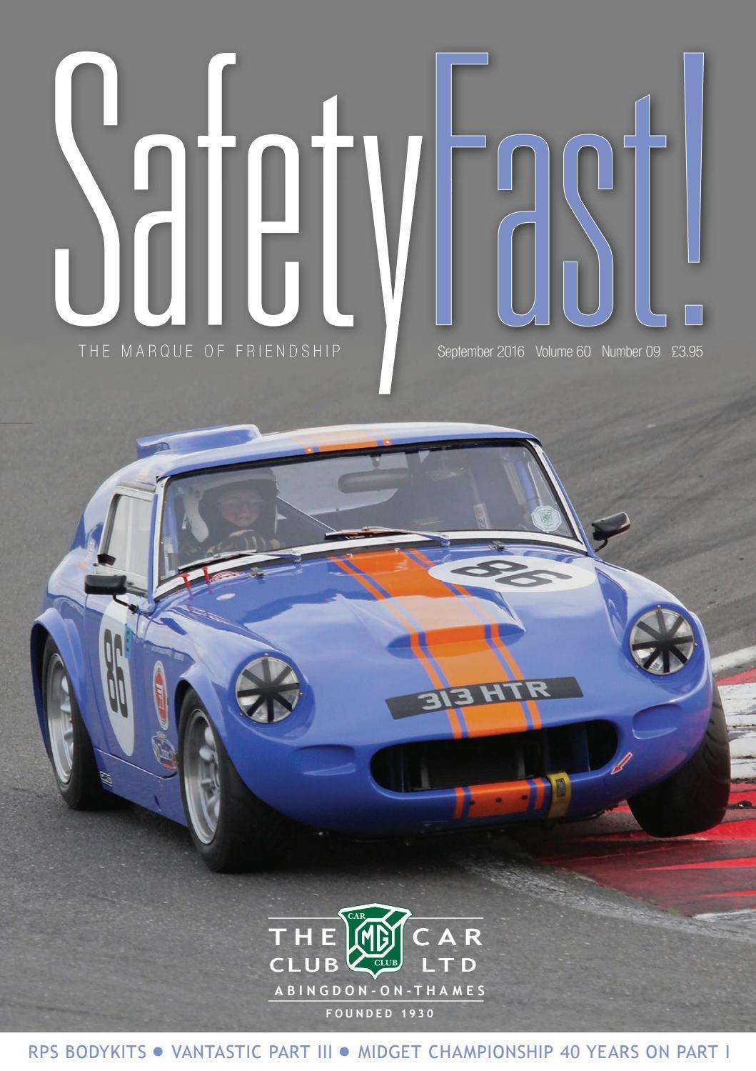 c6639f3f32 Safety Fast! September 2016 by MG Car Club - issuu