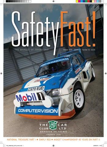 Safety Fast! October 2016 by MG Car Club - issuu