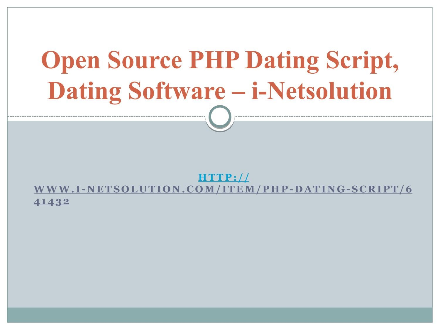Dating-Software Open Source php