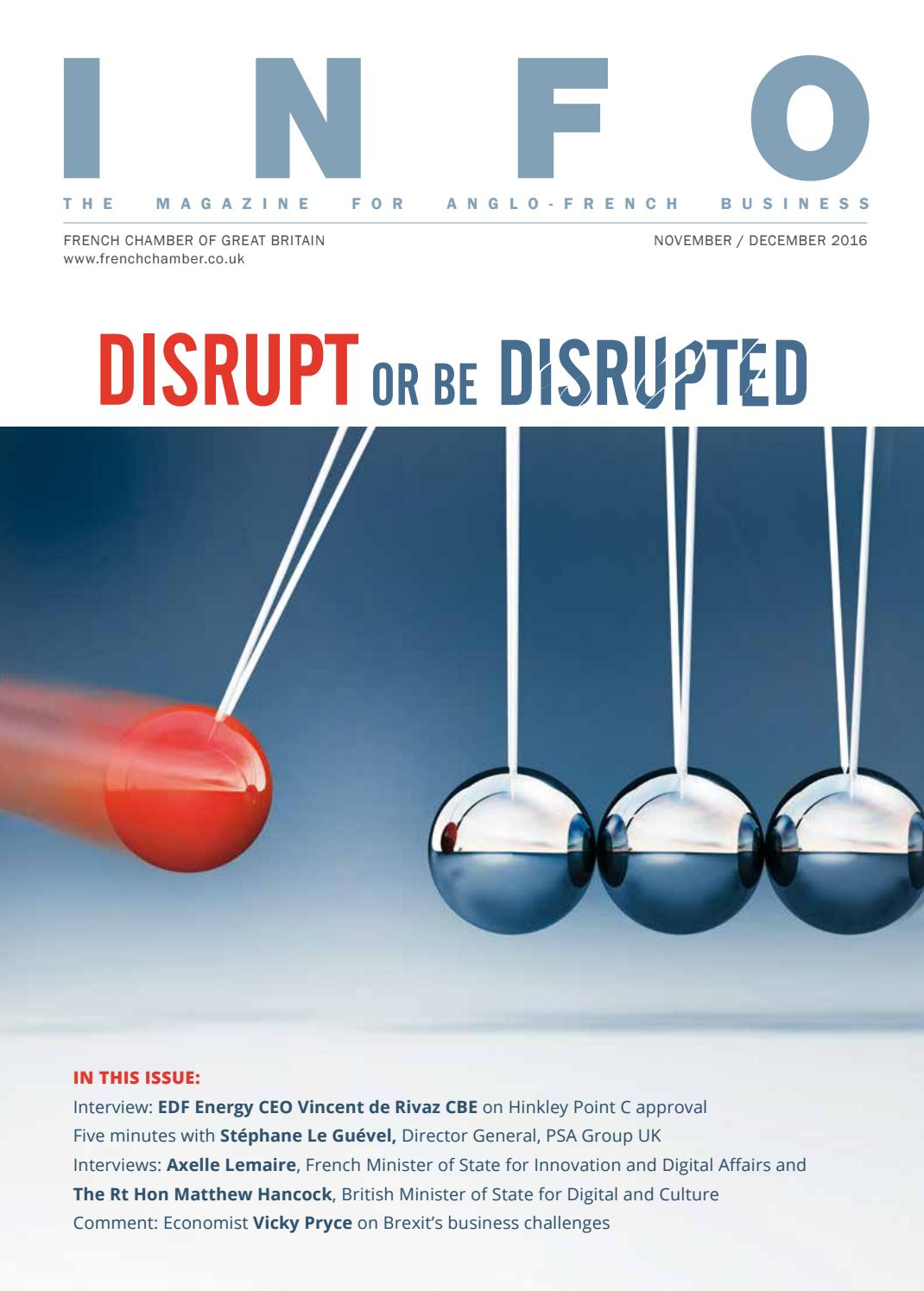 INFO Magazine Disrupt or be Disrupted by French Chamber of Commerce ...