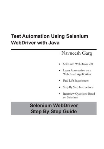 Selenium is just a lightweight pc software testing structure
