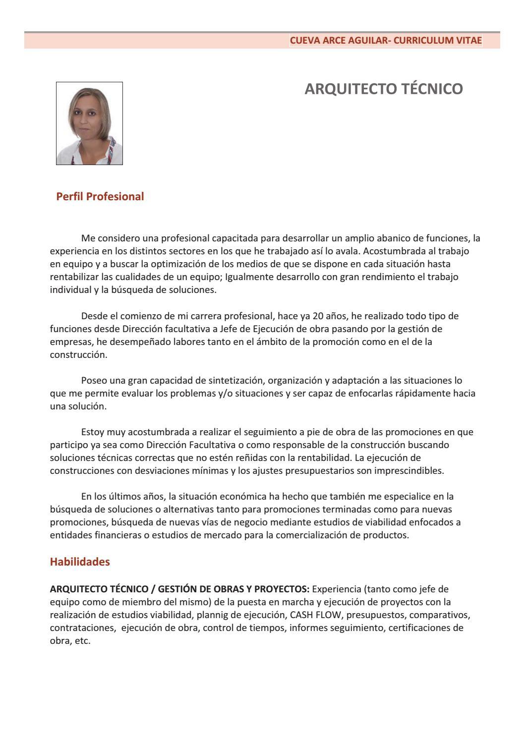 Curriculum listado de trabajos nov 2016 by Cueva Arce - issuu