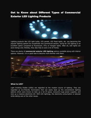 Commercial Exterior Led