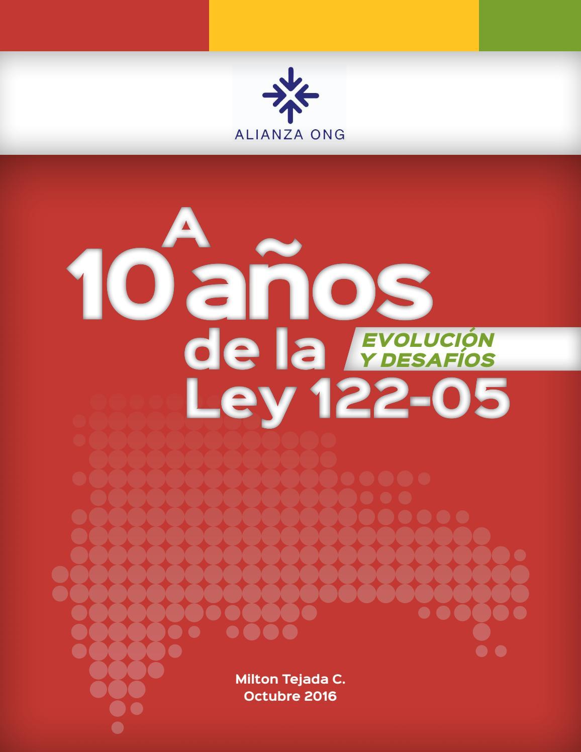 Estudio a 10 años de la ley 122 05 by Alianza ONG - issuu