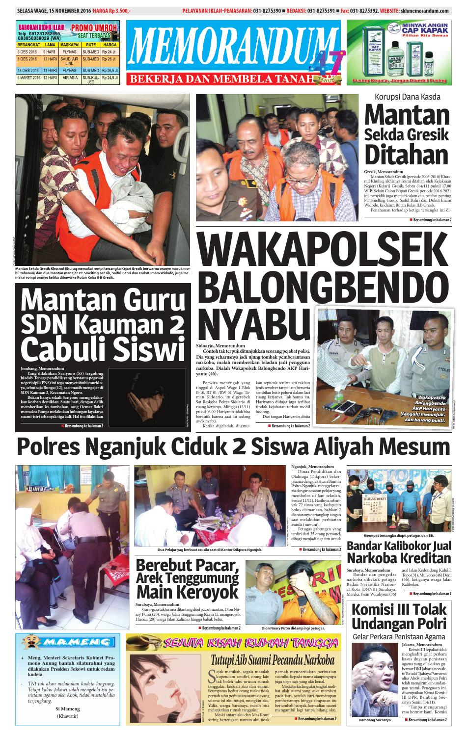 memorandum edisi 15 november 2016 by memorandum issuu