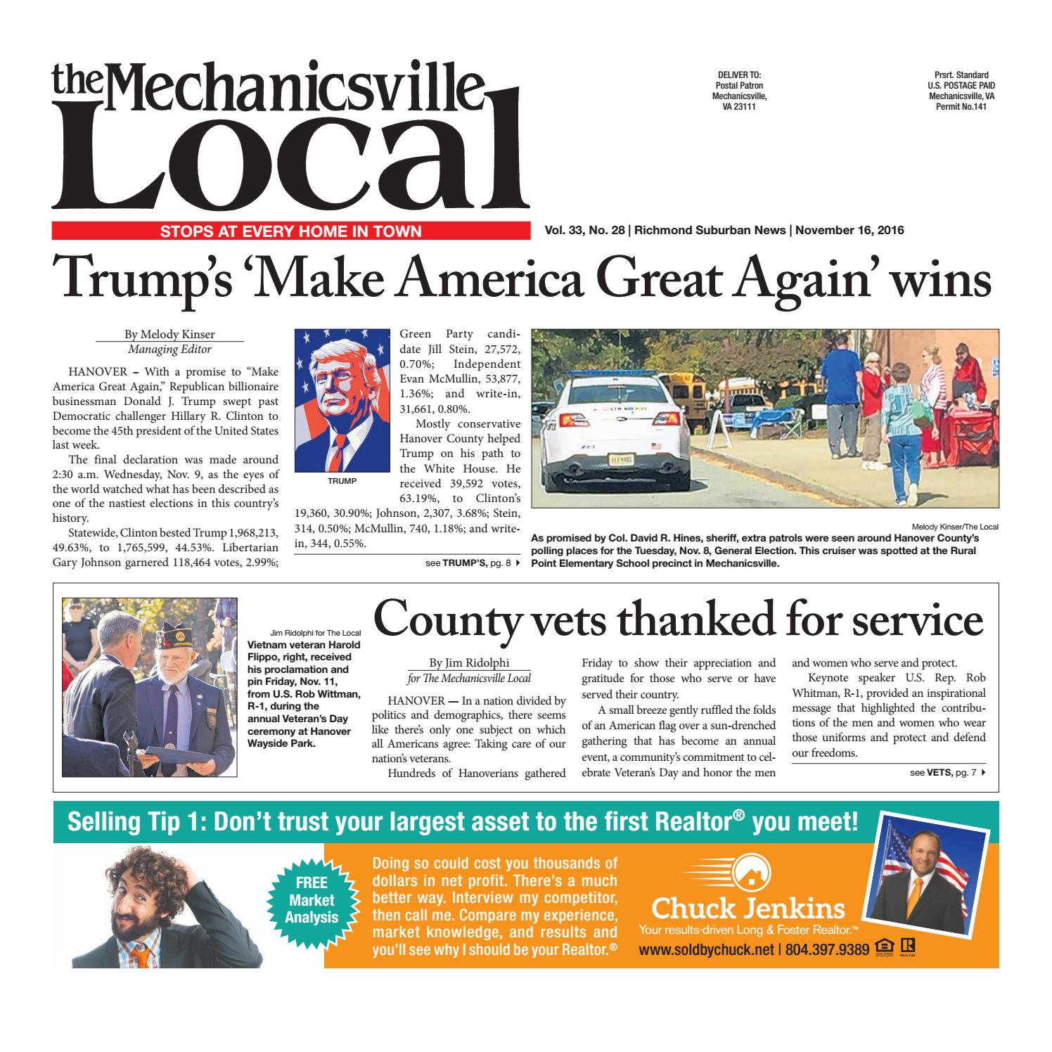 11/16/2016 by The Mechanicsville Local - issuu
