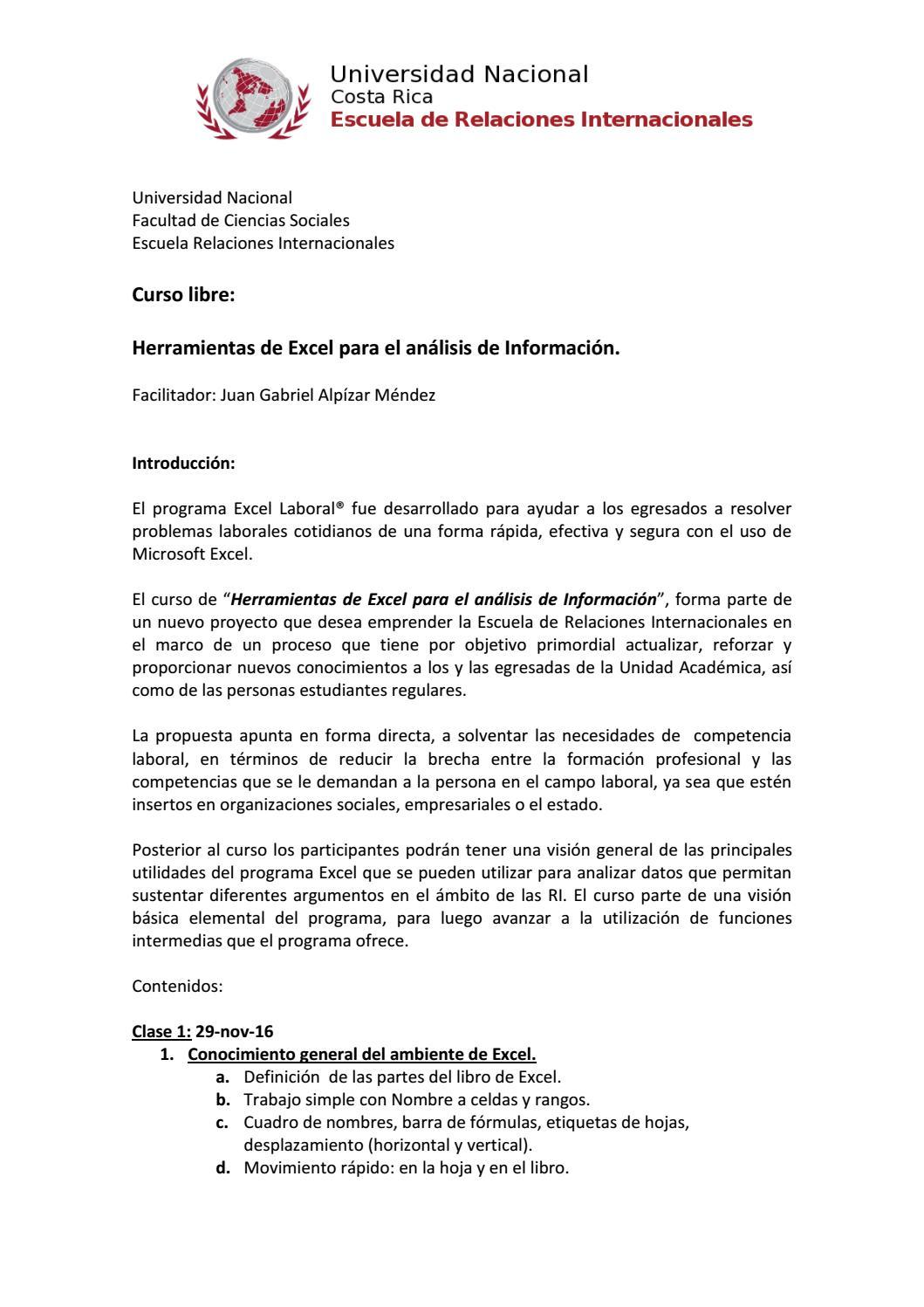 Curso: Herramientas de excel para el análisis de información by Adri ...