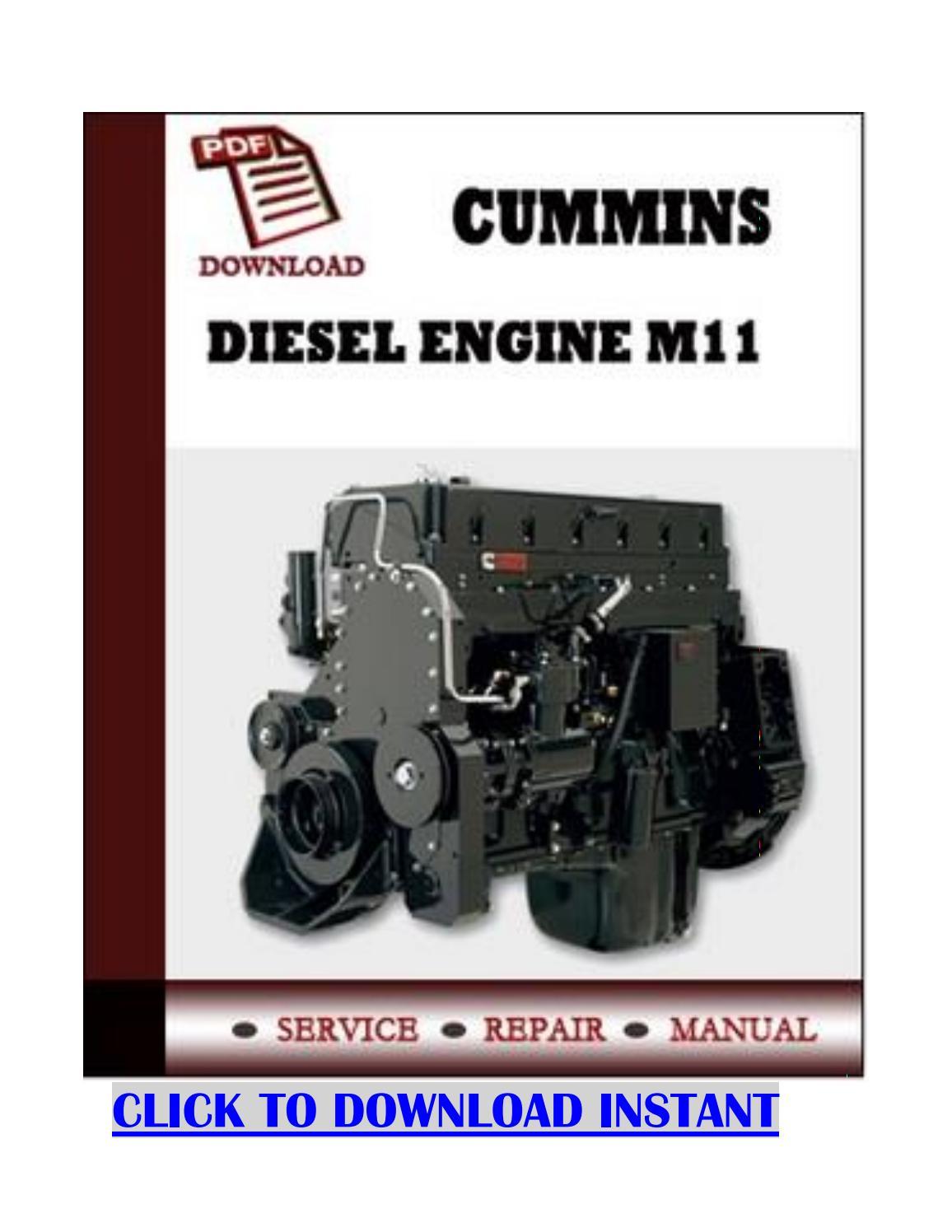 Cummins m11 plus repair service manual for diesel engine by YordanJordan -  issuu