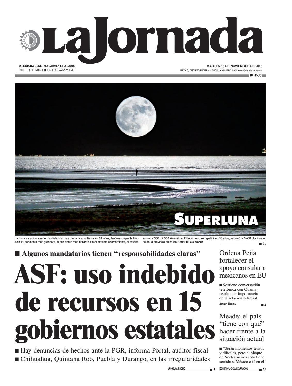 Diario15112016 by La Jornada: DEMOS Desarrollo de Medios SA de CV ...