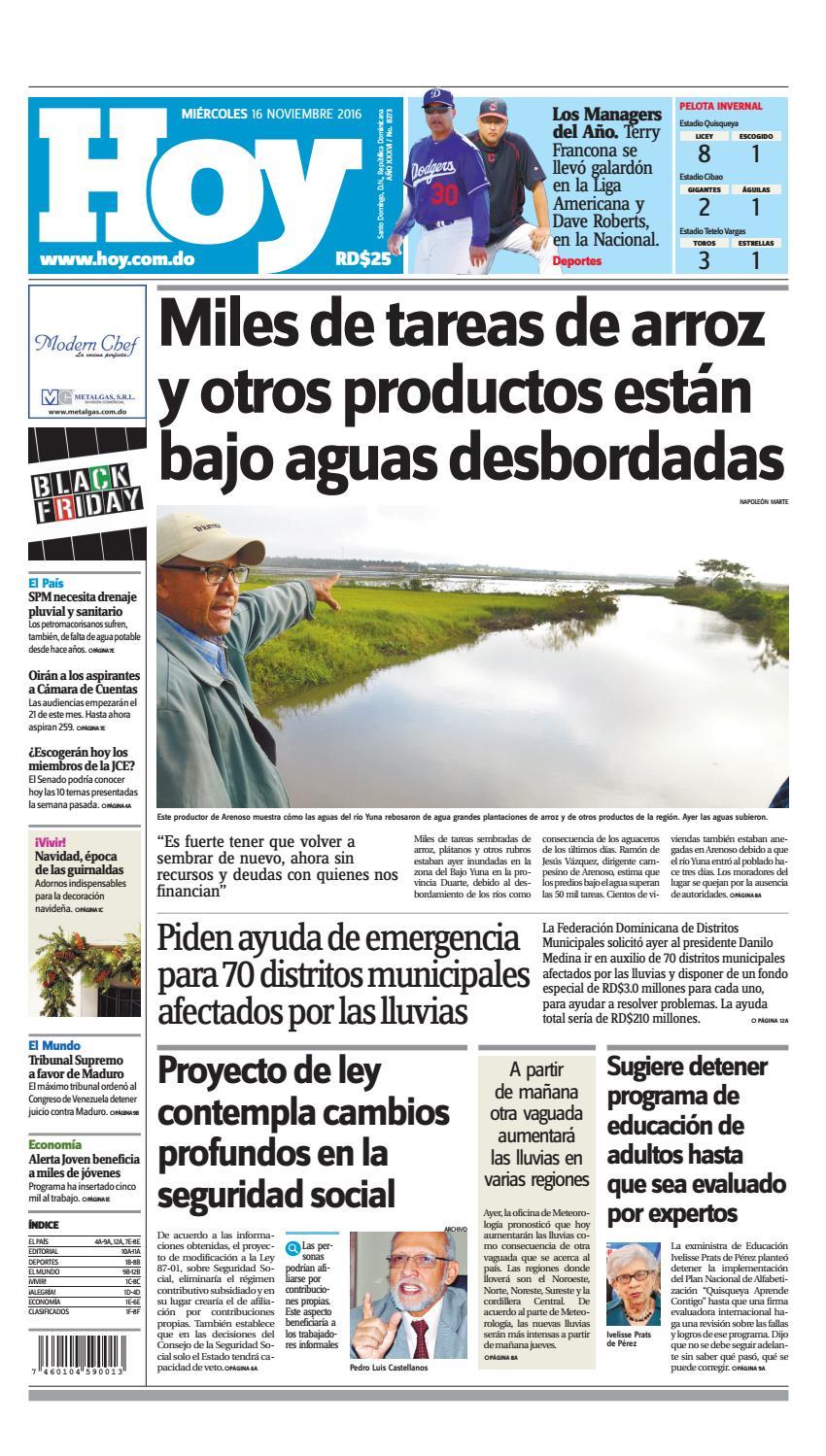reputable site e2d29 17ada Periodico 16 de noviembre 2016 by Periodico Hoy - issuu
