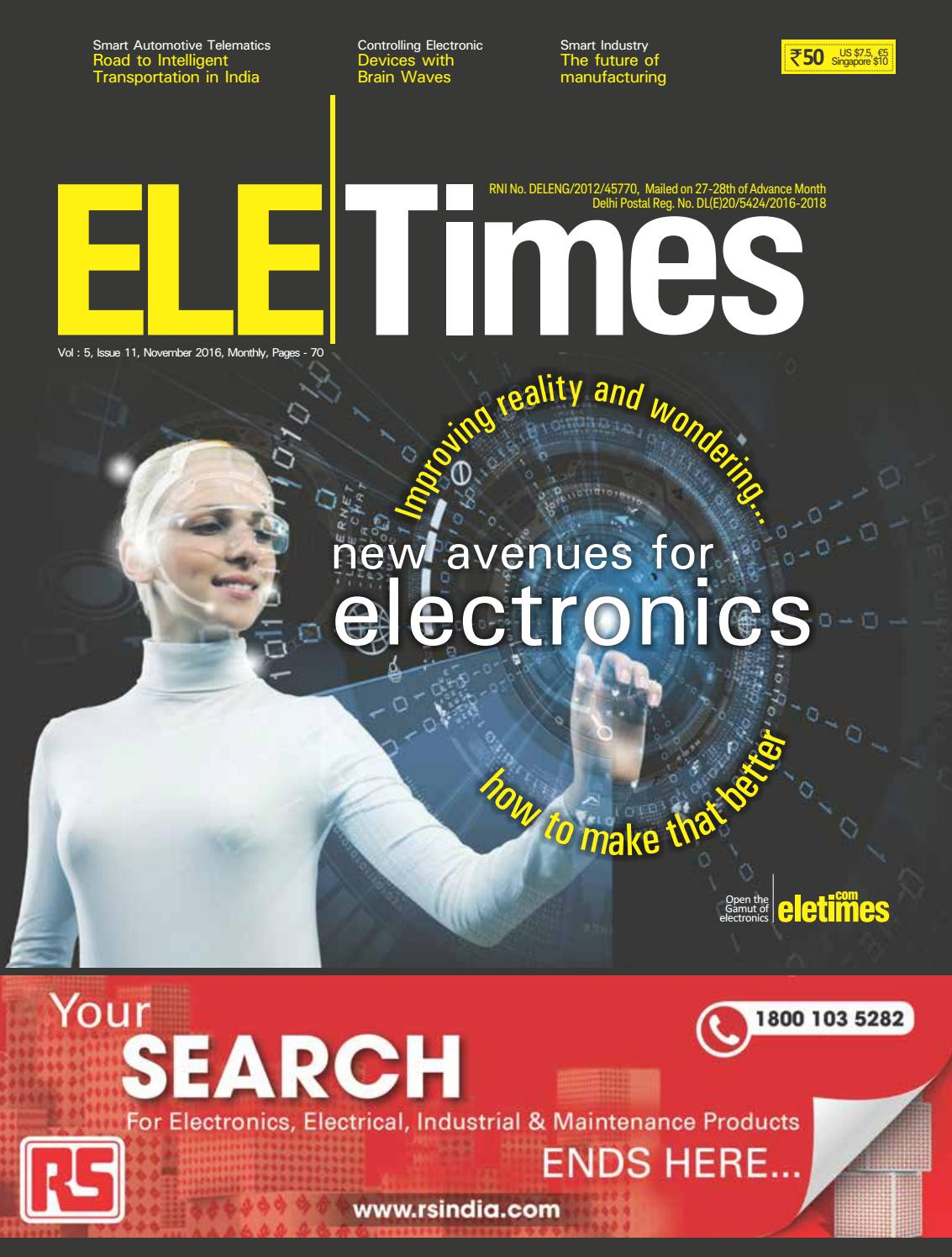 Ele Times Nov 2016 Pdf 1 By Issuu Meter Dpm To Measure Ac Voltage Simply Smarter Circuitry Blog