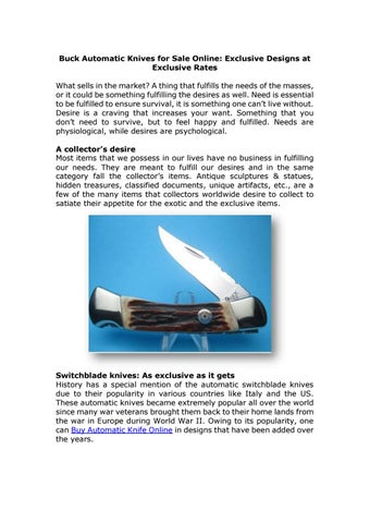 Buck automatic knives for sale online by myswitchblades - issuu