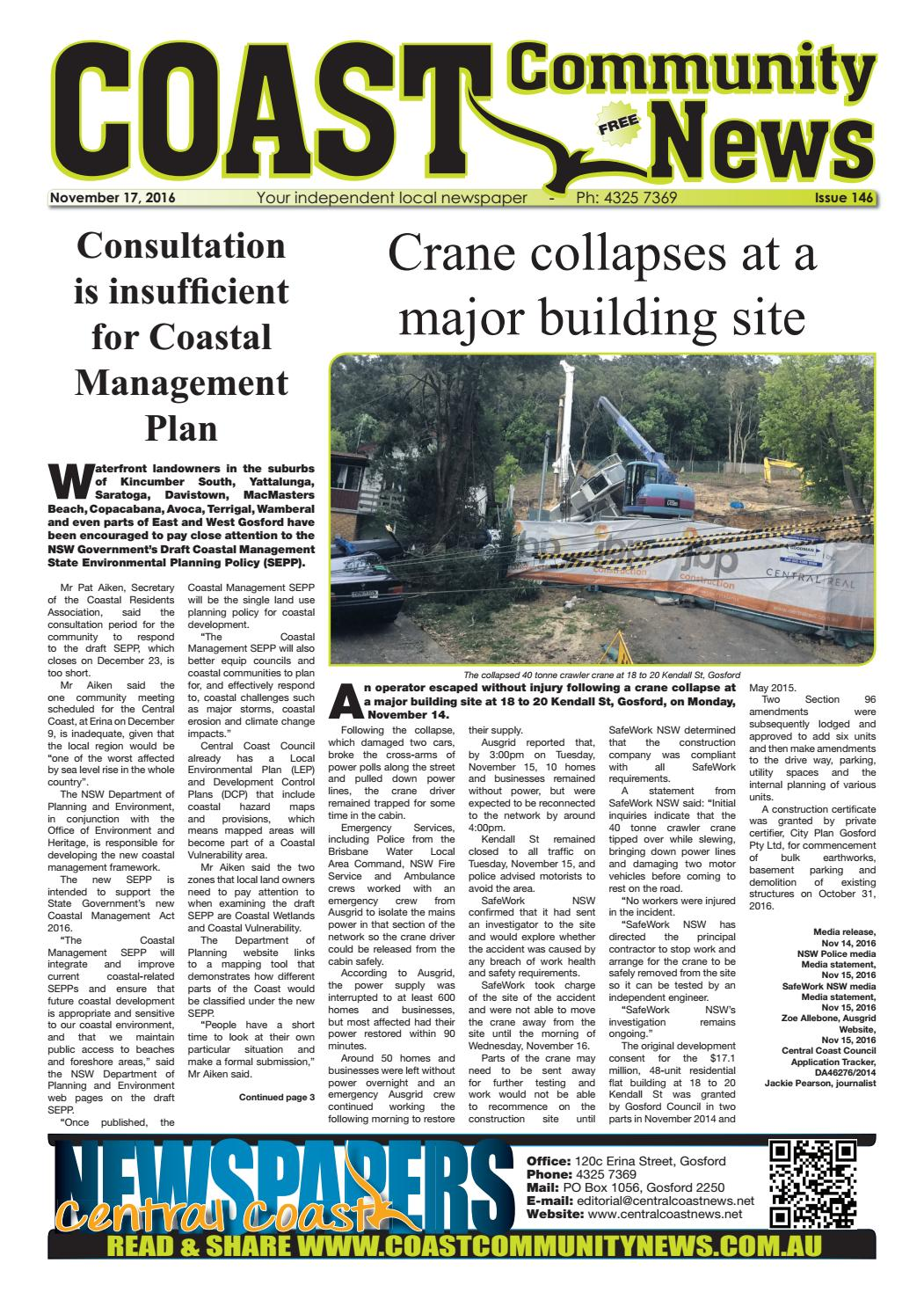 Issue 146 of COAST Community News by Central Coast Newspapers - issuu