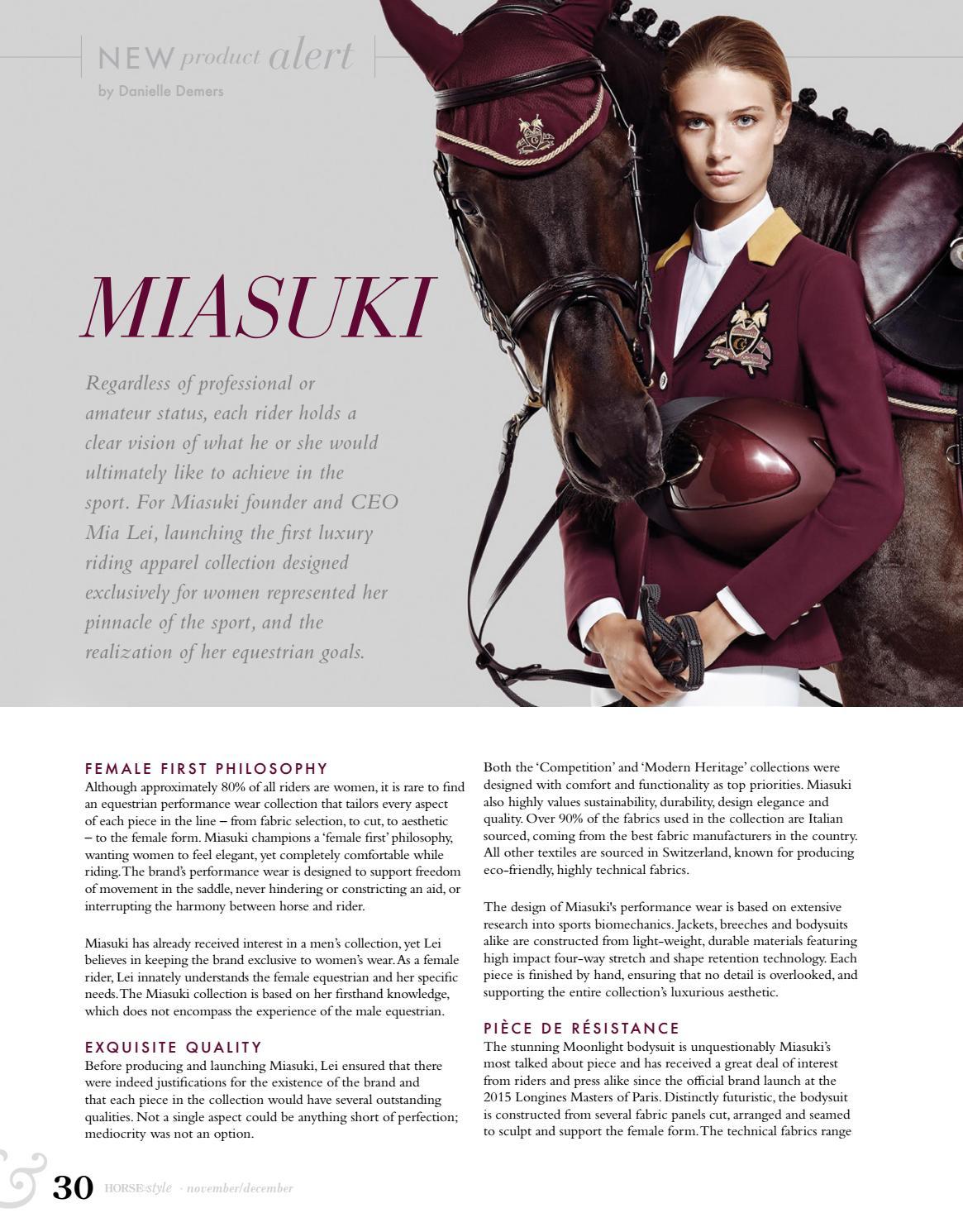 Horse Style Magazine November December 2016 By Horse Style Magazine Issuu