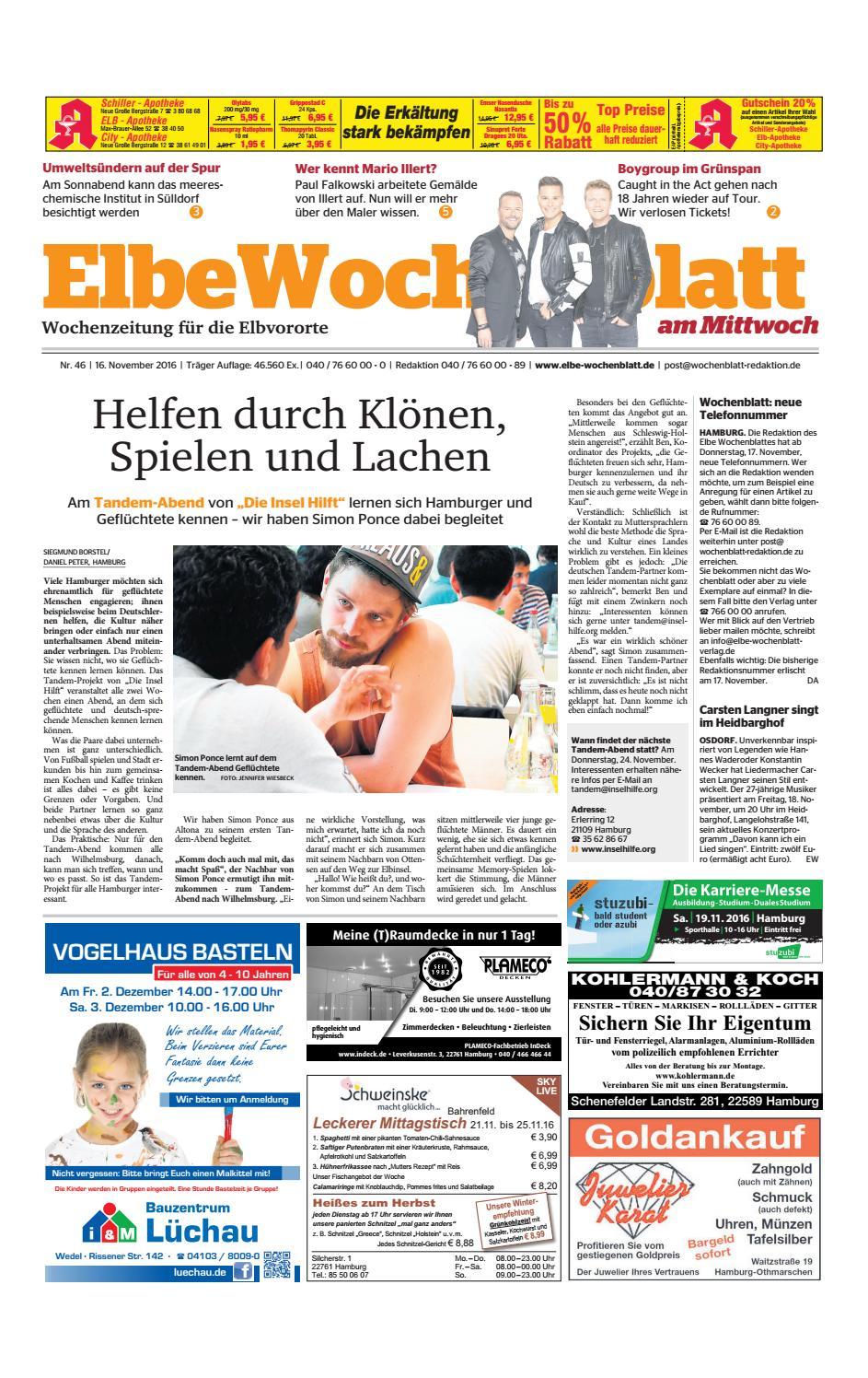 Elbvororte KW46-2016 by Elbe Wochenblatt Verlagsgesellschaft mbH ...