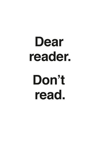 Dear reader  Don't read  by Museo Reina Sofía - issuu