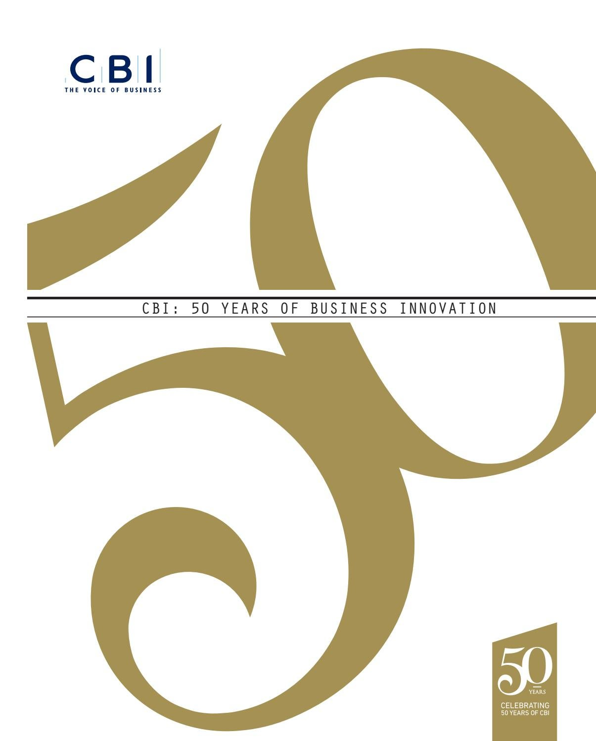 CBI: 50 Years of Business Innovation by St James\'s House - issuu